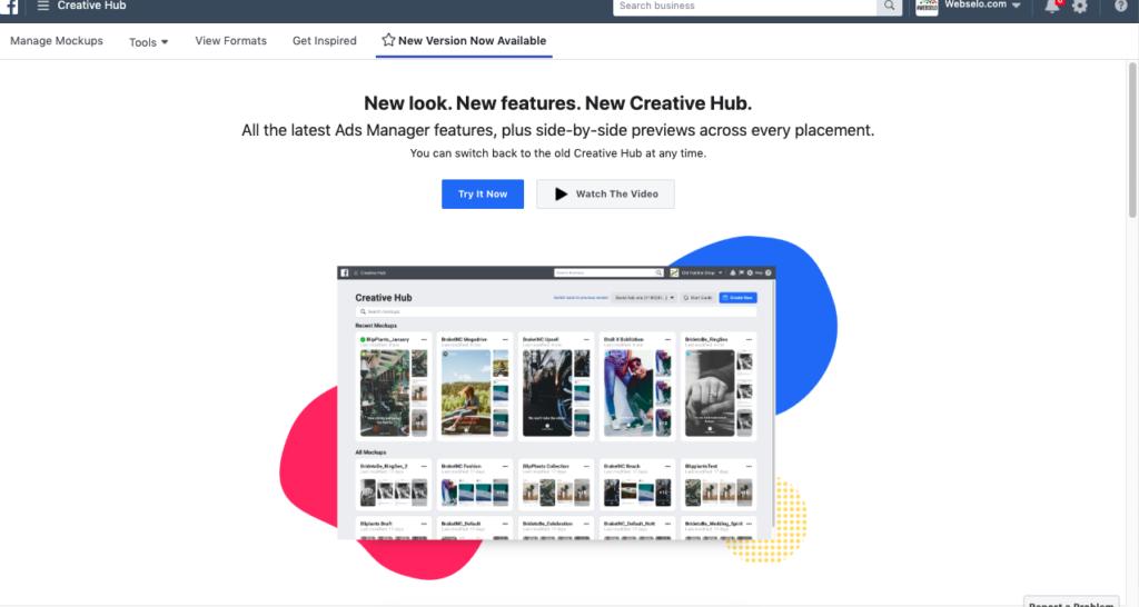 facebook creative hub new version