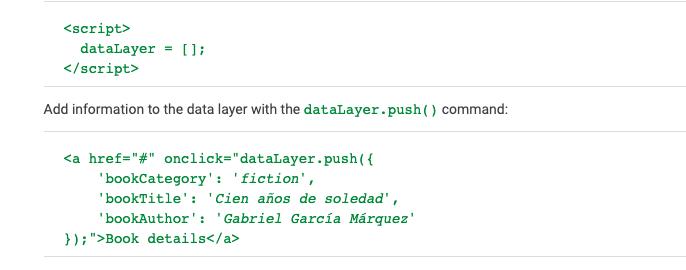 datalayer код в google analytics