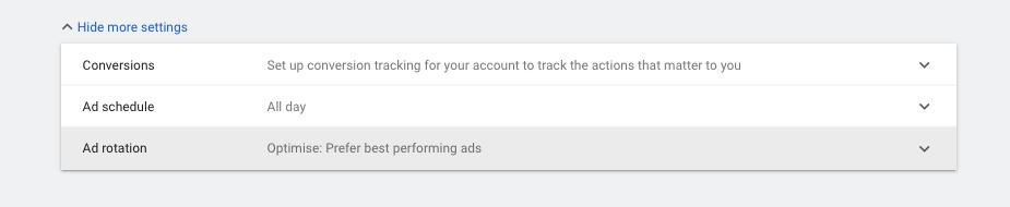 график на рекламната кампания в гугъл адс, campaign schedule google ads