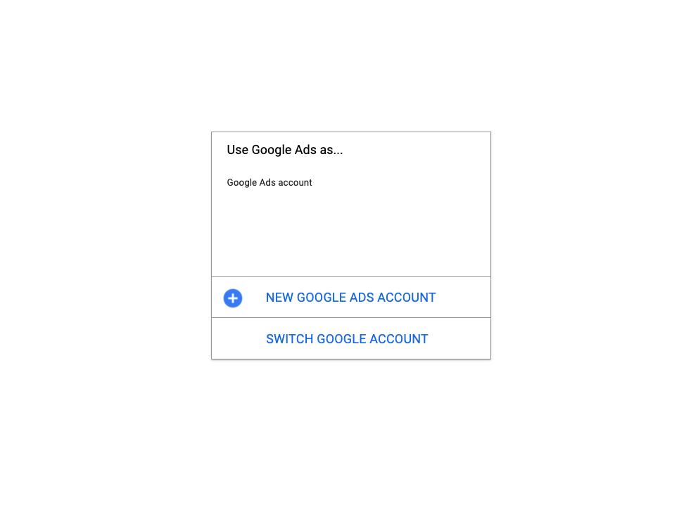 избор на акаунт в гугъл адс