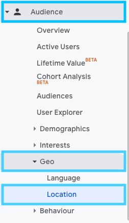 настройване на аудиториите по география