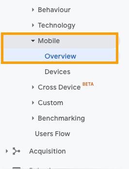 мобилни устройства в гугъл аналитикс