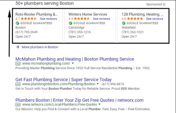 новите локални реклами в Гугъл Адс