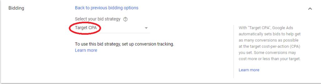 стратегия за наддаване в гугъл адс целяща определена цена на придобиване на клиент