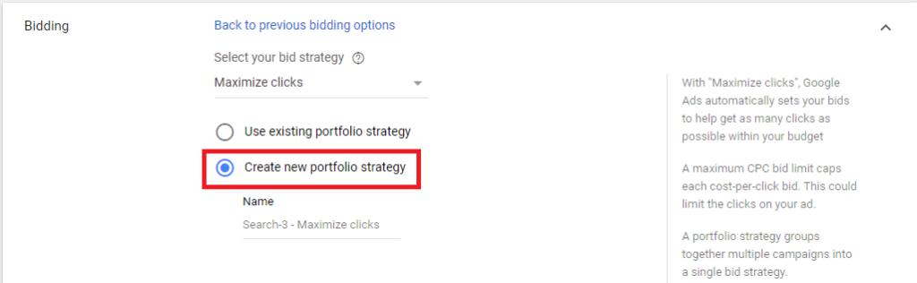 създаване на нова портфолио стратегия за наддаване