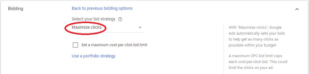 увеличаване на кликовете като стракегия за наддаване в google ads