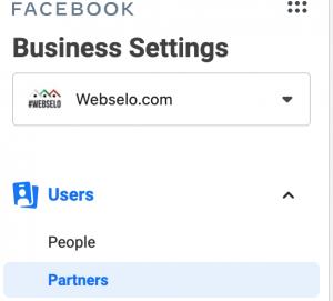facebook business maneger - settings - partners