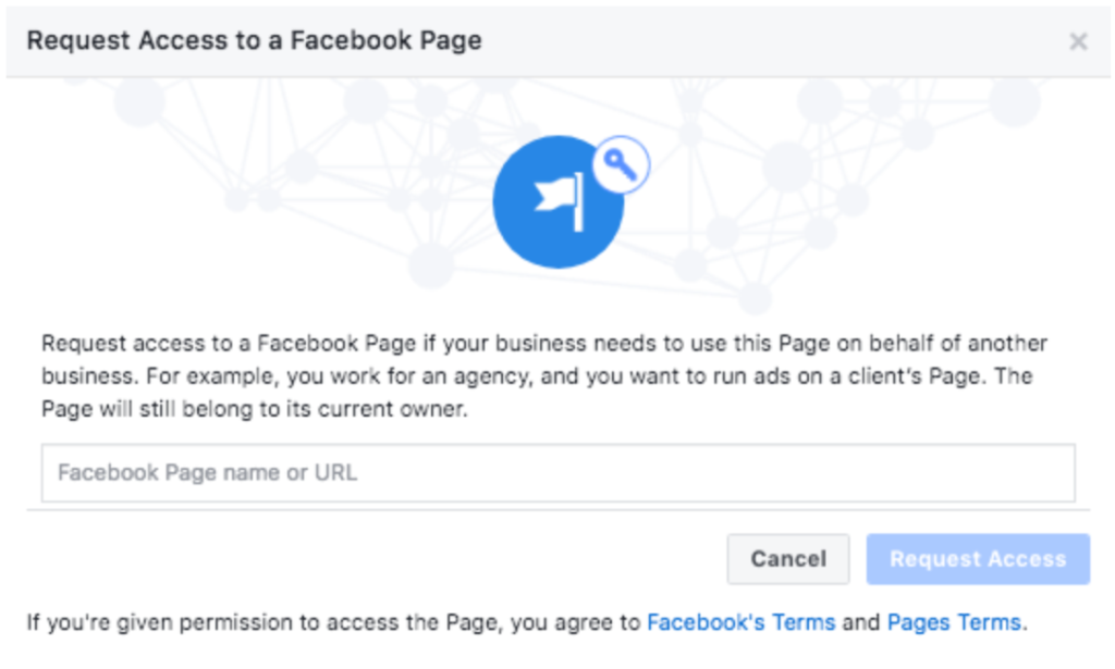 request access to a facebook page